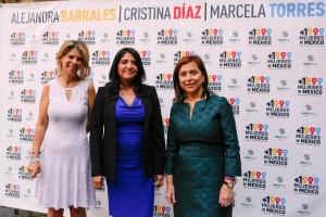 Alejandra Barrales Magdaleno, Cristina Díaz Salazar y Marcela Torres Peimbert