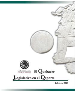 """Ilustración con el texto """"El Quehacer Legislativo en el Deporte"""""""