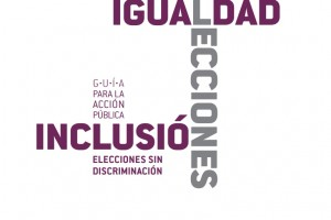"""Portada de la Guía para la Acción Pública """"Elecciones sin Discriminación"""""""