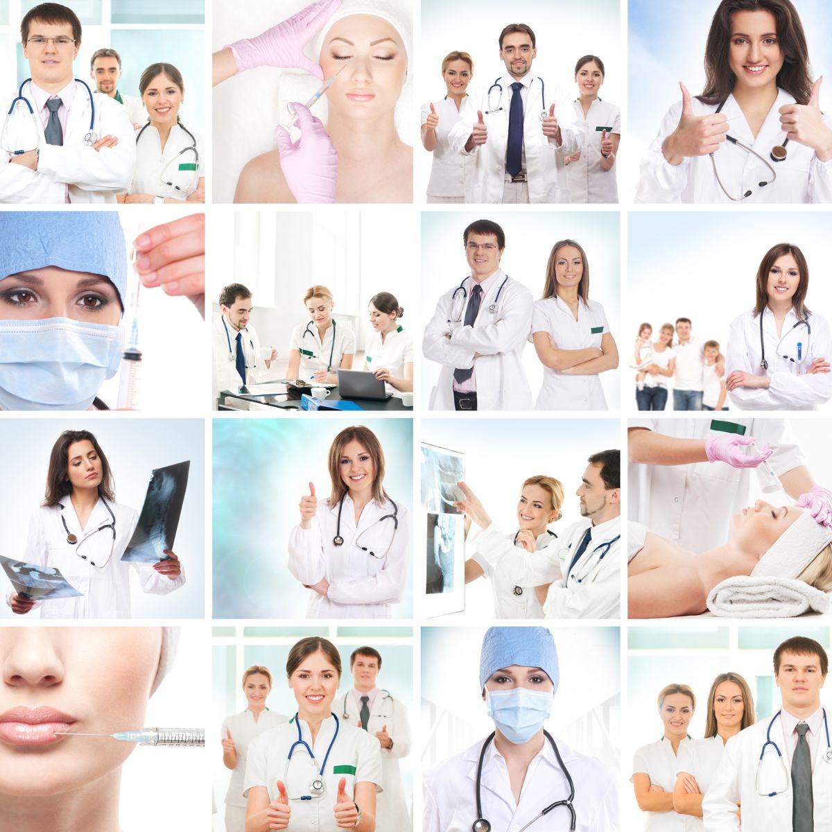 Mosaico de imágenes de cirugia estetica