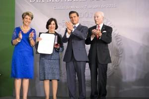 Mercedes Jian,Teresita Corona Vázquez, Enrique Peña Nieto y