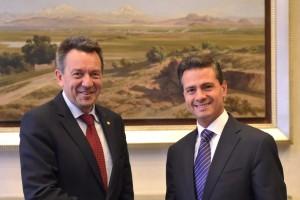 De izquierda a derecha Peter Maurer y Enrique Peña Nieto
