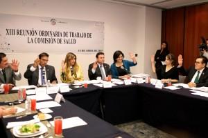 Senadores en reunión de trabajo