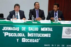 Diputados en la mesa de trabajo de las Jornadas de la Salud Mental