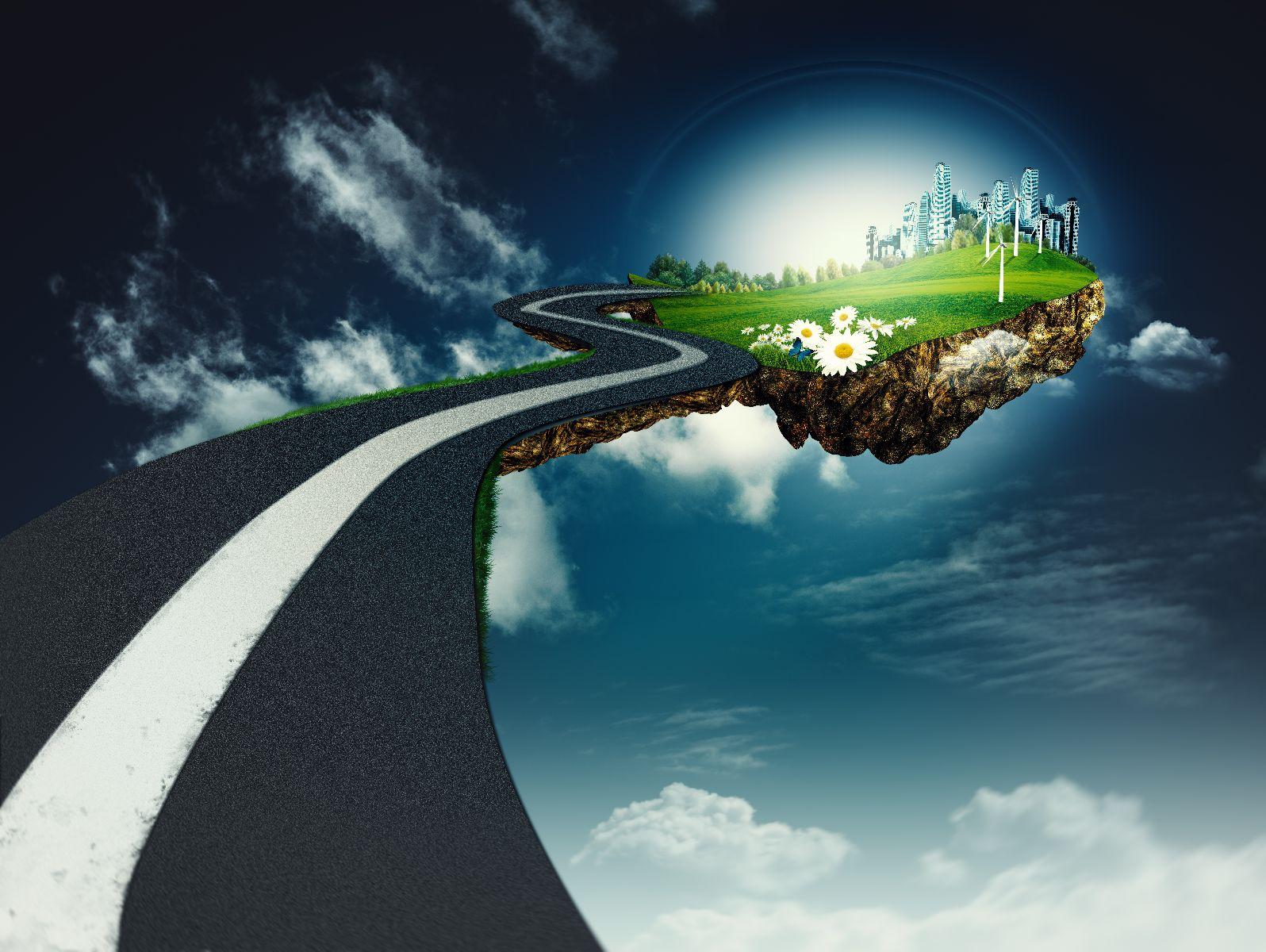 Ilustración de un camino a otro mundo