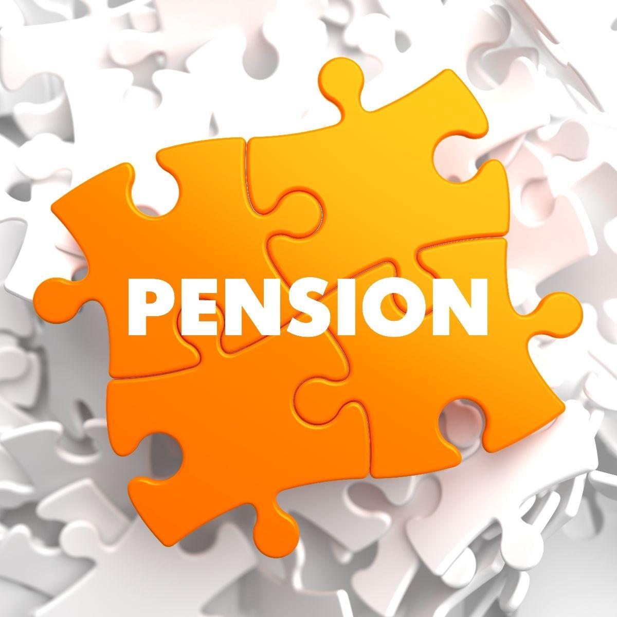 rompecabezas que forma la palabra pension