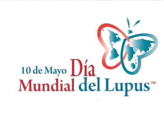 """Logotipo con mariposa y el texto """"Día Mundial del Lupus"""""""