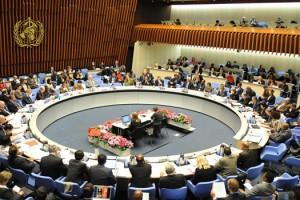 Salón de reuniones de la OMS