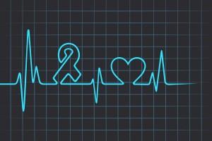 Latido del corazón que SIDA y símbolo del corazón
