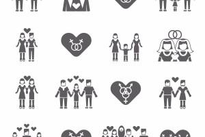 Iconos de familias no tradicionales