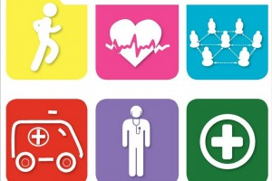 "Portada con iconos de salud y el texto ""Cardiovascular Disease and Diabetes: Policies for Better Health and Quality of Care"""
