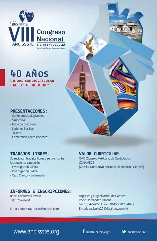 Cartel VIII Congreso Nacional de ANCISSSTE 2015