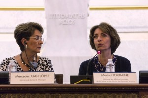Mercedes Juan, y Marisol Touraine