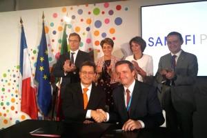 La Secretaria de Salud, Mercedes Juan y la Ministra de Salud de Francia, Marisol Touraine atestiguaron la Declaración de Intención para la implementación de la vacuna contra el dengue