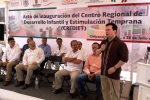 El Gobierno de la República, a través de la CNPSS, invirtió 6.1 millones de pesos en su construcción, para beneficio de 139 mil niños menores de 5 años de edad