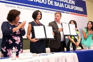 Con la firma del Convenio de Colaboración con Baja California, las 31 entidades federativas y el D.F. suscriben Declaración por la Igualdad.