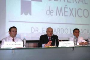 Conferencia de prensa del hospital general de mexico en la foto dr jorge moises hernandez dr cesar athie dr fernando paredez