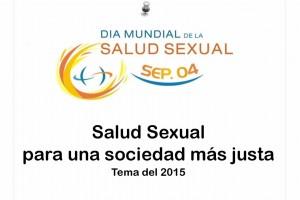 """Ilustración con el texto """"4 de septiembre de 2015, Día Mundial de la Salud Sexual, salud sexual para una sociedad más justa"""""""