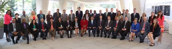 Altos líderes de la salud asistentes a la apertura del 54º Consejo Directivo de la Organización Panamericana de la Salud (OPS)