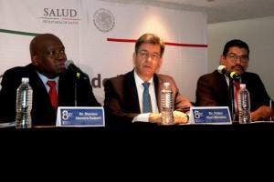 Conferencia Global de la Red de Programas de Entretenimiento y Intervenciones en Epidemiologa y Salud Publica en la foto Dr. Dionicio Herrera Guibert Dr. Pablo Kuri Morales Dr. Cuitlahuac Ruiz Matus