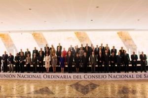 La titular de Salud Federal, Mercedes Juan junto con el gobernador de Chihuahua, César Duarte Jáquez, inauguraron la XI Reunión Nacional Ordinaria del Consejo Nacional de Salud