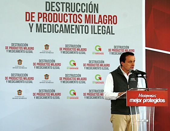 En la actual administración federal se han asegurado cerca de 240 toneladas de medicamentos irregulares.