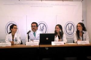 En la fotografía Dr SILVIA HIDALGO TOBON, DR. PILAR DIAZ SUAREZ. DR SALVADOR VILLALPANDO CARREON, PSIC. MARIA JOSE ADAME y DRA TERESA SILICEO
