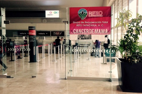Se colocó alcancías en varias zonas estratégicas del Aeropuerto para promover la donación voluntaria