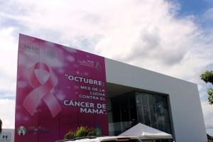 fachada exterior del Centro Estatal de Oncología del estado de Campeche