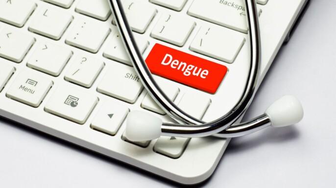 teclado con una tecla titulada dengue