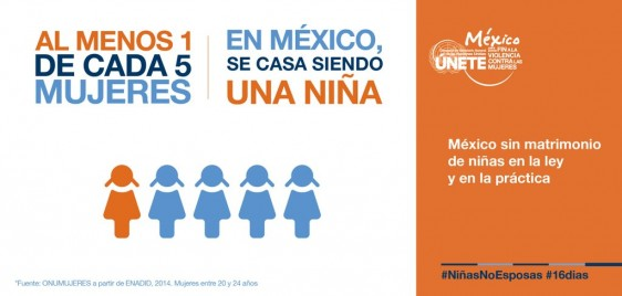 """Campaña 2015: """"Únete para prevenir y eliminar la unión temprana y el matrimonio de lasniñas"""""""