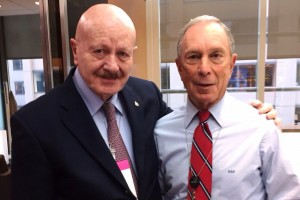 Manuel Mondragón y Kalb con Michael Bloomberg