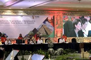 En la sesión de clausura del CONASA estuvieron el Comisionado Nacional de Protección Social en Salud, Gabriel O´Shea Cuevas; el Comisionado Federal de Protección contra Riesgos Sanitarios, Mikel Arriola, y los Subsecretarios de Prevención y Promoción de Salud, Pablo Kuri Morales y de Administración y Finanzas, Marcela Velasco.