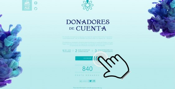 """Campaña social """"Donadores de Cuenta"""" de Asociación ALE, en la que difundirá información sobre la donación de órganos e invitará a los usuarios de las redes sociales a que se conviertan en embajadores de la causa."""