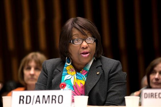 Carissa F. Etienne, Directora de la OPS informa a las autoridades sanitarias mundiales sobre el virus del Zika en las Américas.