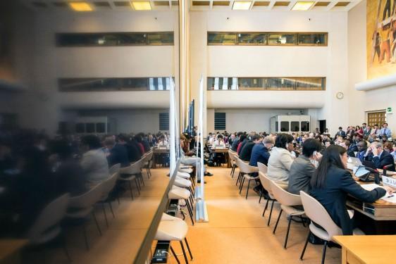 Delegados en una reunión técnica