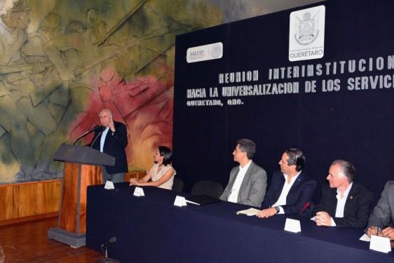 En el evento con los representantes del sistema estatal de salud del Estado de Querétaro, se revisaron los avances que tiene el estado en materia de universalización de servicios.
