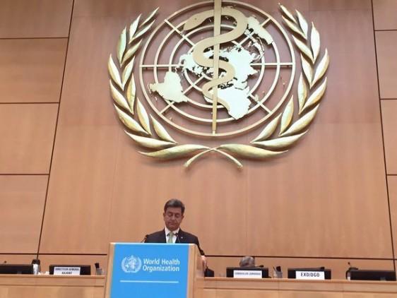 Es necesaria una respuesta oportuna y eficiente, ante amenazas globales de salud, afirmó el subsecretario de Prevención y Promoción de la Salud, Pablo Kuri Morales, durante su participación en las discusiones de alto nivel realizadas en el marco de la 69 Asamblea Mundial de la Salud, que se celebra en Ginebra, Suiza, del 23 al 26 de mayo.