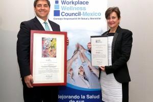 El distintivo, otorgado por el Consejo Empresarial de Salud y Bienestar, mide el éxito de los programas de promoción y cuidado de la salud en las empresas.
