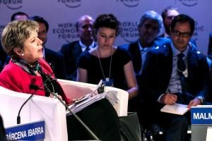 La Secretaria Ejecutiva de la CEPAL expuso en diversos paneles del Foro Económico Mundial sobre América Latina 2016 celebrado en Medellín, Colombia.