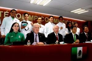 En la conferencia de prensa estuvieron el jefe de Misión para Río 2016, Mario García de la Torre, así como algunos atletas que representarán a México en las disciplinas de pentatlón moderno, boxeo, ciclismo y lucha grecorromana.