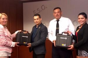 Autoridades de CONADIC y de Fundación Modelo entregaron al municipio dos equipos de alcoholimetría así como mil 44 boquillas