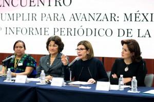 Participaron en esta reunión la doctora Gloria Ramírez, coordinadora de la Cátedra UNESCO de Derechos Humanos de la Universidad Nacional Autónoma de México (UNAM); Imelda Marrufo, coordinadora de la Red Mesa de Mujeres de Ciudad Juárez, y la doctora María Luisa Martínez, directora del Instituto de Ciencias Sociales de la Universidad Autónoma de Nuevo León.