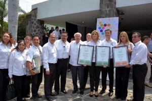 También asistieron el Comisionado Nacional de Protección Social en Salud, doctor Gabriel O´Shea Cuevas; la Secretaria de Salud de Morelos, Ángela Patricia Mora González y, el Secretario del Consejo de Salubridad General, doctor Jesús Áncer Rodríguez.