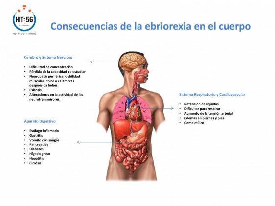 Consecuencias en el cuerpo de la ebriorexia