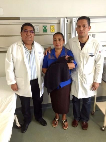 La bebé fue dada de alta y se mantiene bajo estrecho control médico