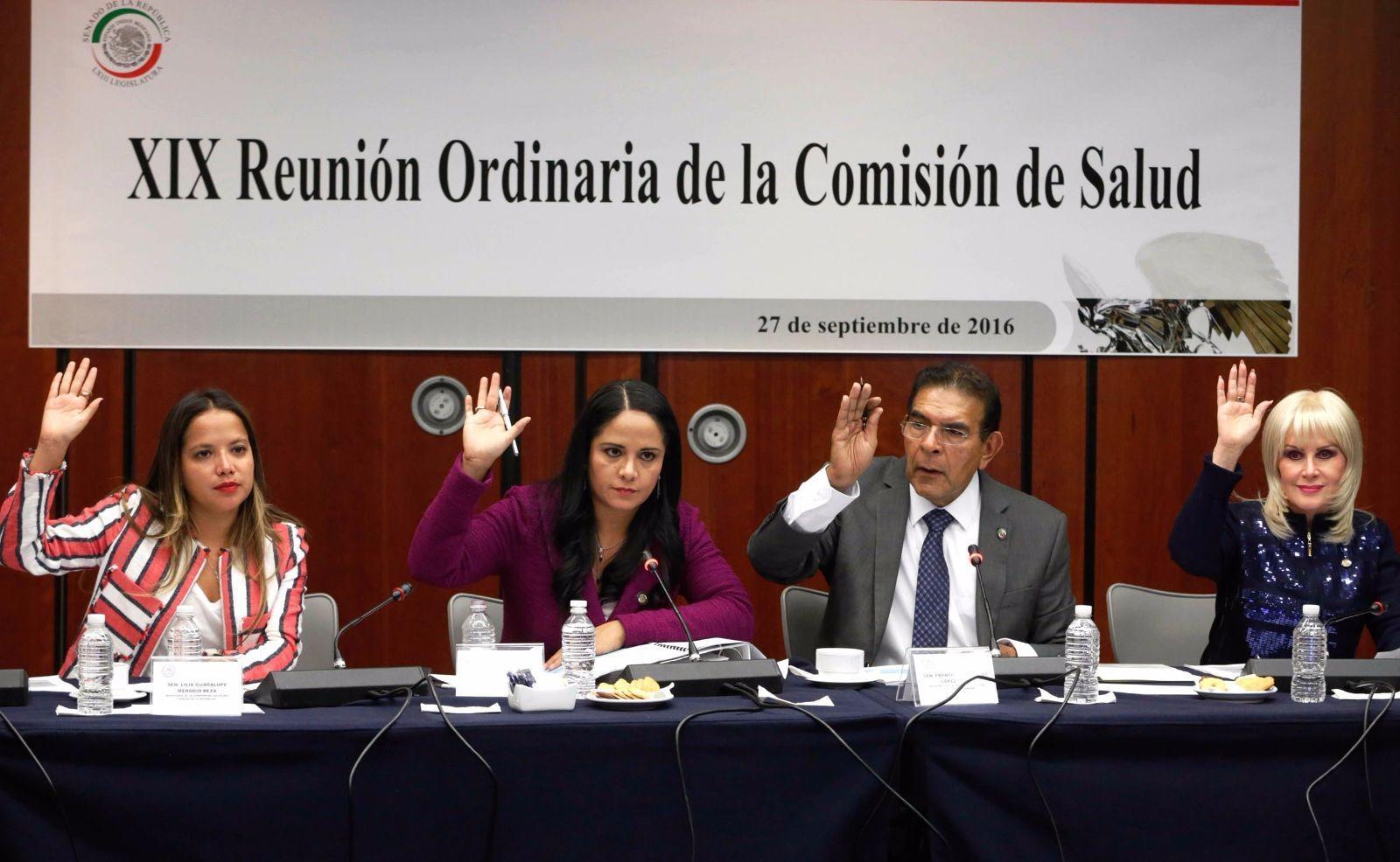 A la reunión de trabajo de la Comisión de Salud asistieron las senadoras Lilia Guadalupe Merodio Reza, Hilda Ceballos Llerenas y Anabel Acosta Islas, y Andrea García García.