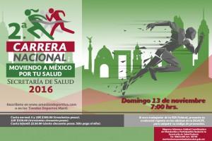 El domingo 13 de noviembre de 2016 se realizará en la Ciudad de México y en nueve entidades Prevén una participación de cerca de 28 mil corredores