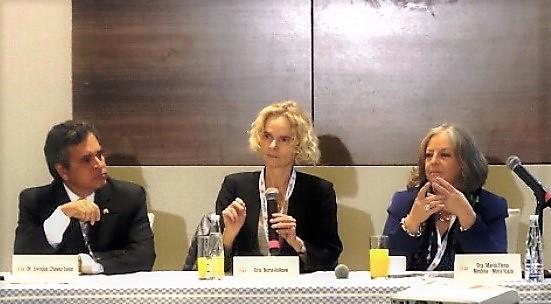 Dr. Enrique Chavez León, Dra. Nora Volkow, Dra. Maria Elena Medina Mora