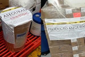 Las autoridades tomaron muestras para dictamen de etiquetado y análisis en laboratorio